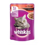 WHISKAS CATFOOD BEEF IN GRAVY 85GR